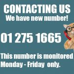 IMPORTANT NOTICE:         Cats' Aid has a brand new Helpline phone number